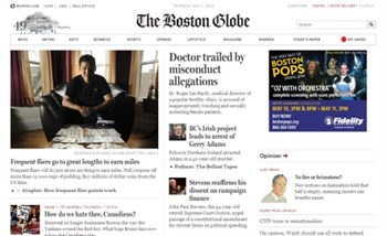Boston Globe Screen Shot